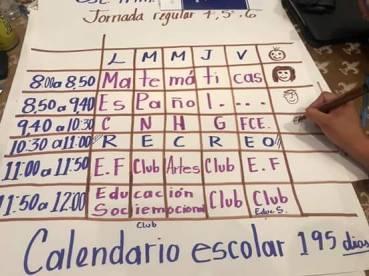 Clubes Ejemplo de Horario. Autonomía Curricular