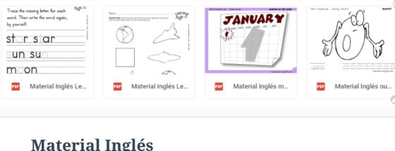 pagina ingles material