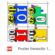 poster 0 al 100 color