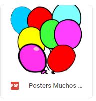 poster globos muchos color glob
