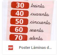 poster laminas número