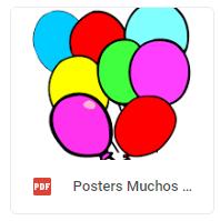 poster n globos muchos