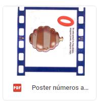 poster numero abejitas
