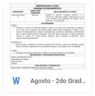 Agosto - 2do Grado Educación Socioemocional (2018-2019)