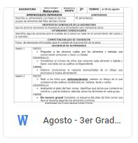Agosto - 3er Grado Ciencias Naturales (2017-2018)