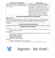 Agosto - 3er Grado Formación C y E (2018-2019)