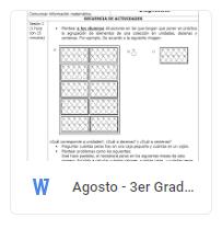 Agosto - 3er Grado Matemáticas (2018-2019)