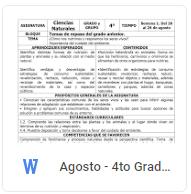 Agosto - 4to Grado Ciencias Naturales (2018-2019)