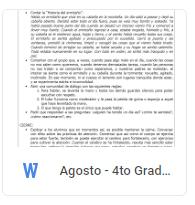 Agosto - 4to Grado Educación Socioemocional (2018-2019)