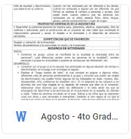 Agosto - 4to Grado Formación C y E (2018-2019)