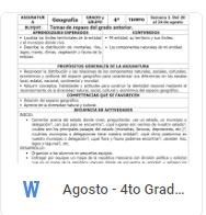 Agosto - 4to Grado Geografía (2018-2019)