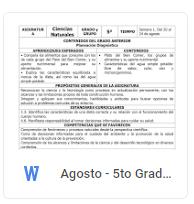 Agosto - 5to Grado Ciencias Naturales (2018-2019)