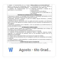 Agosto - 6to Grado Ciencias Naturales (2018-2019)