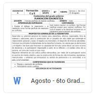 Agosto - 6to Grado Formación C y E (2018-2019)